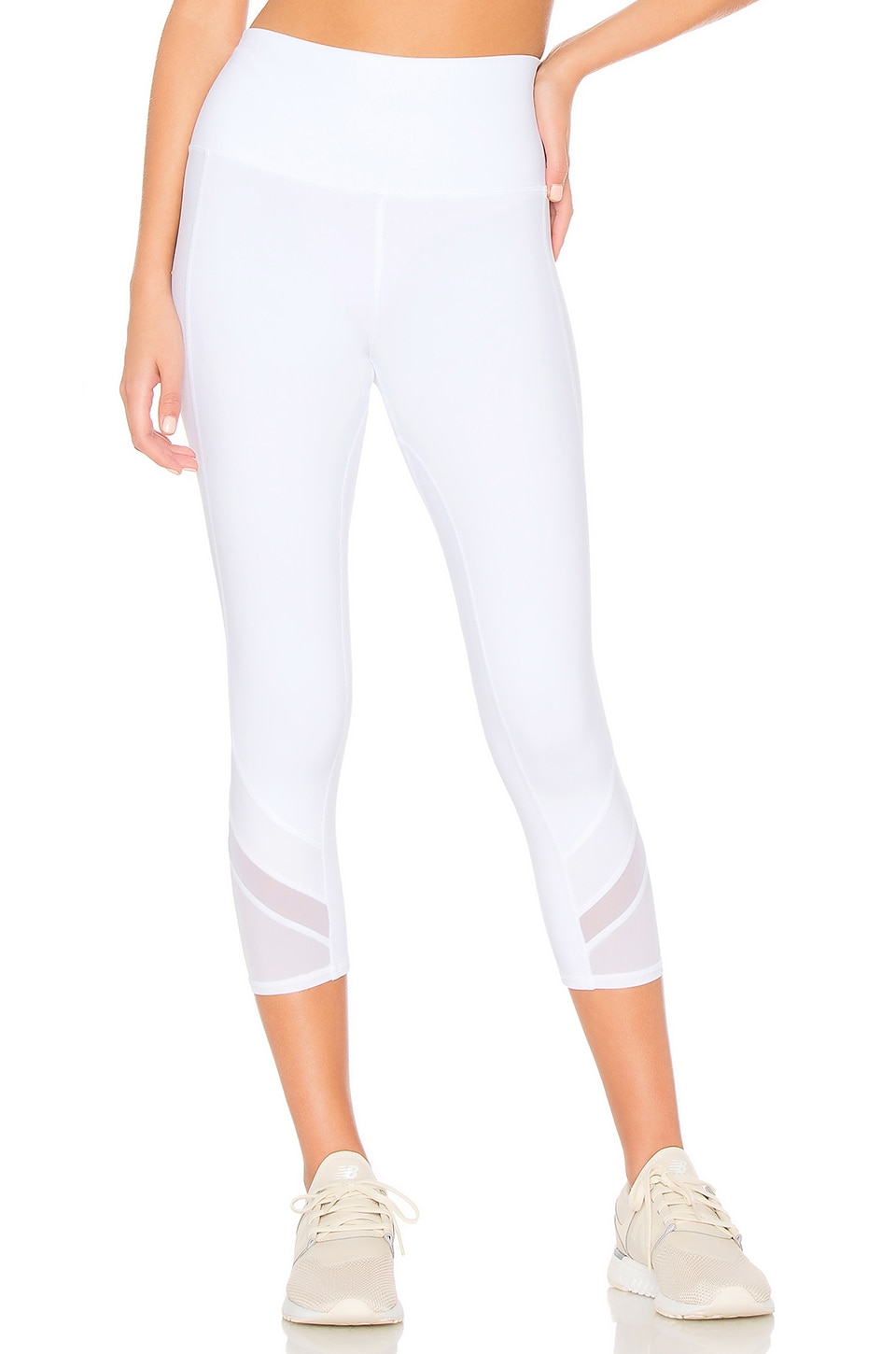 alo High Waist Elevate Capri Legging in White
