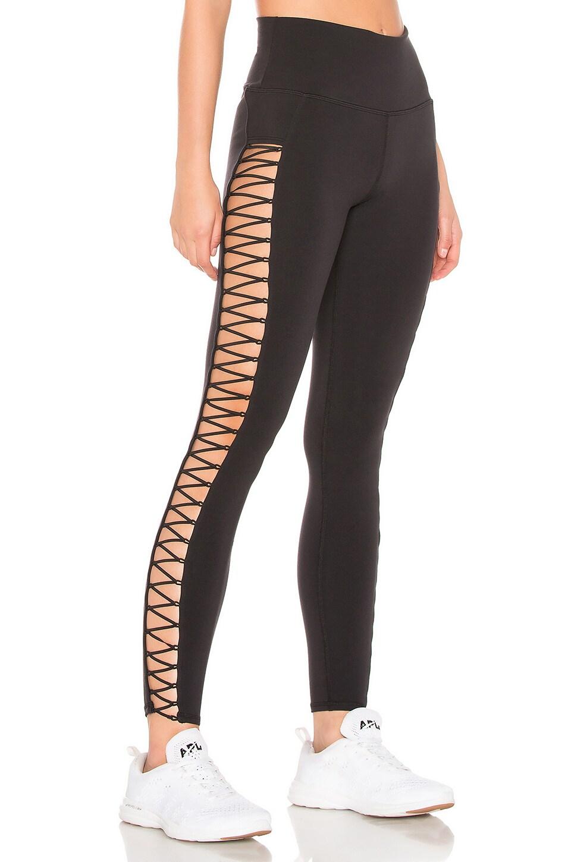 cf942cc168 alo Highline Lace Up Legging in Black | REVOLVE