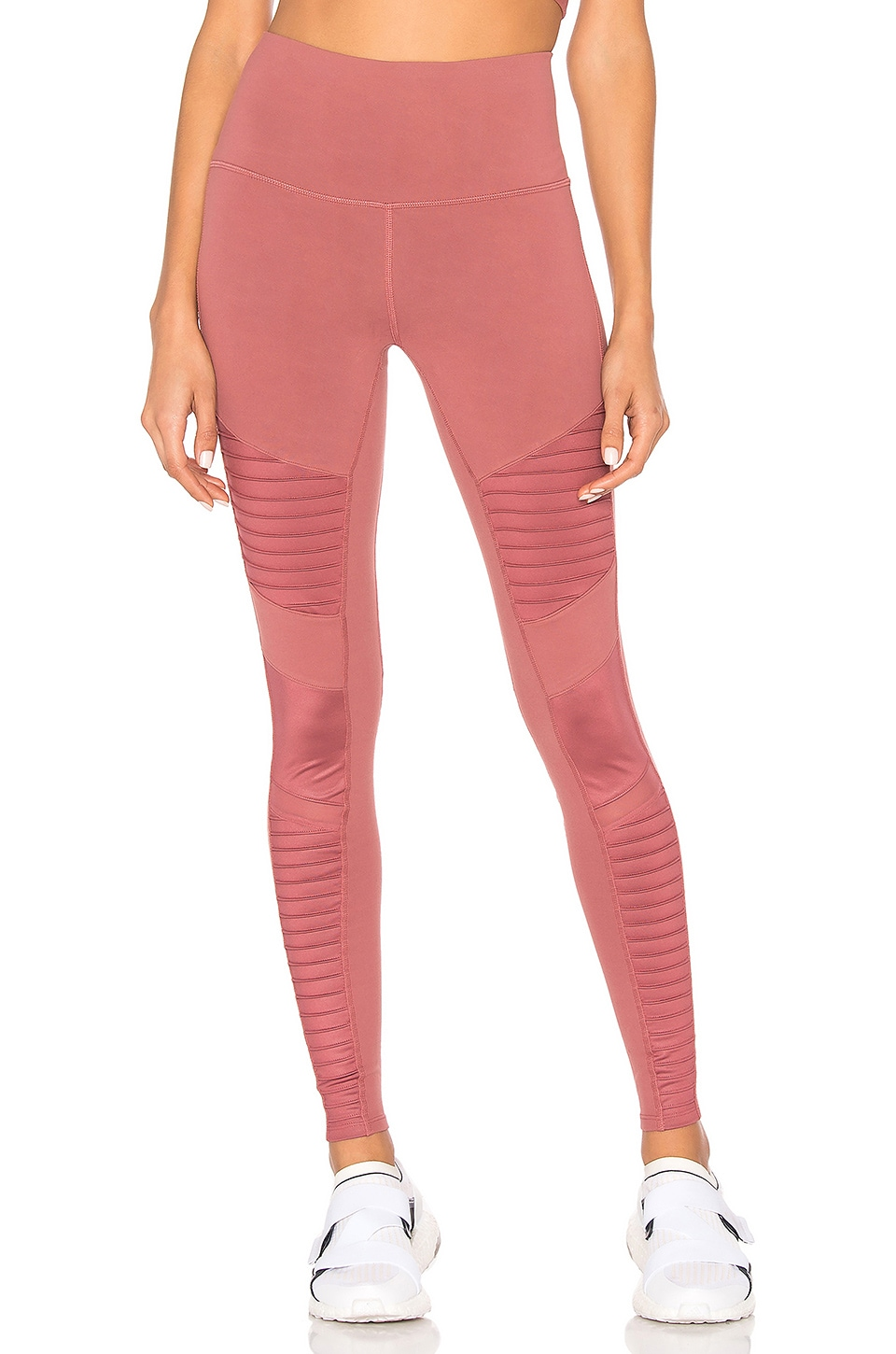 ea5792fdbf30c alo High Waist Moto Legging in Rosewood Glossy | REVOLVE