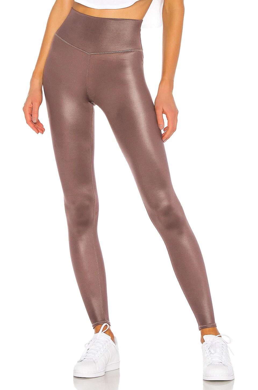alo High Waist Shine Airbrush Legging in Coco Shine