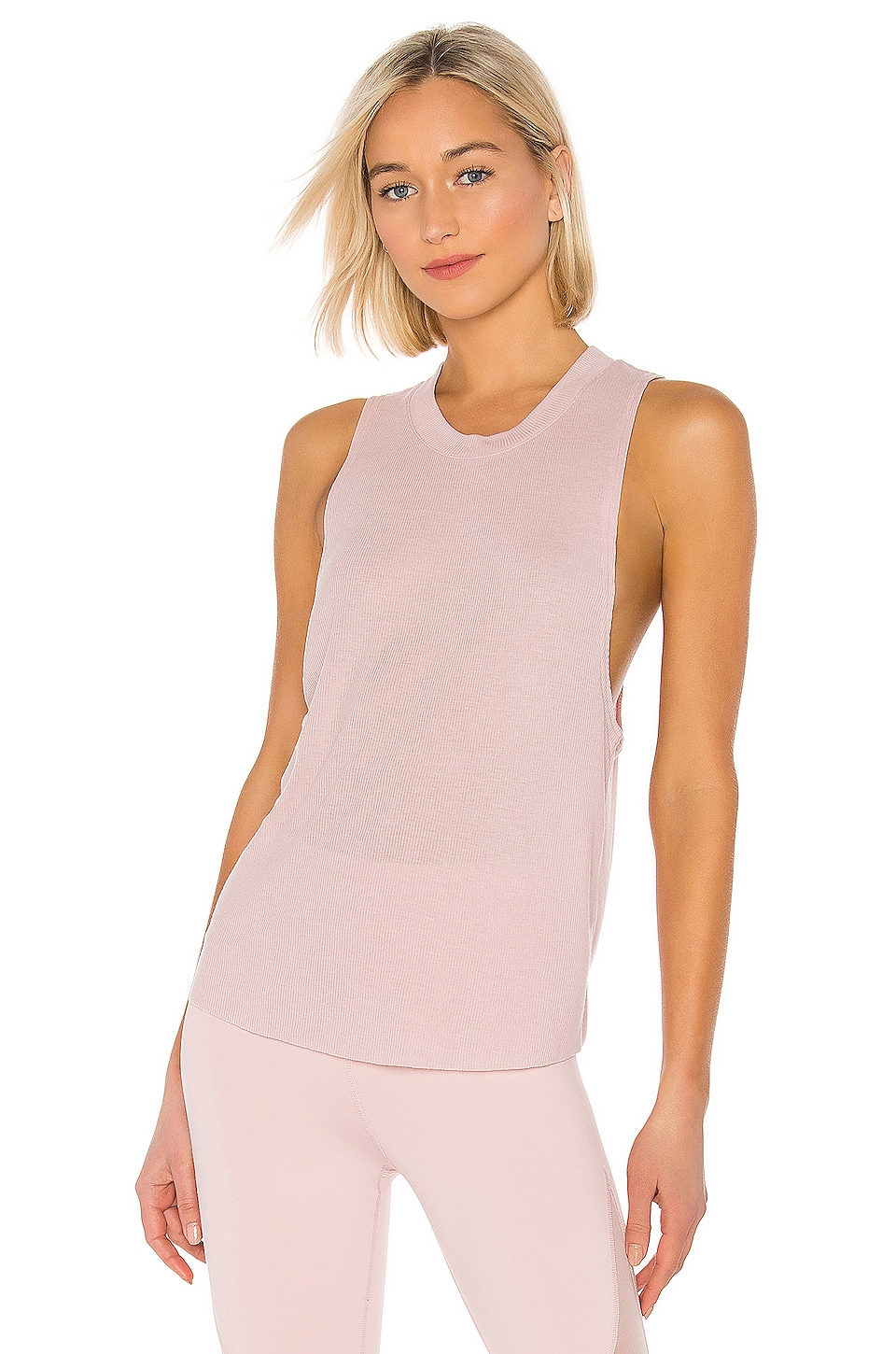 alo Heat Wave Tank in Pale Mauve