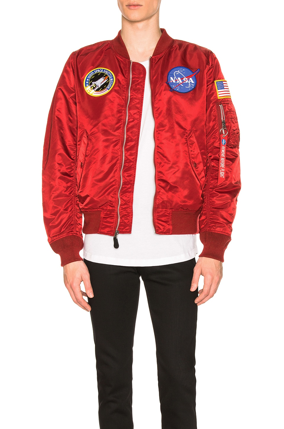 ALPHA INDUSTRIES L 2B Nasa Bomber in Commander Red