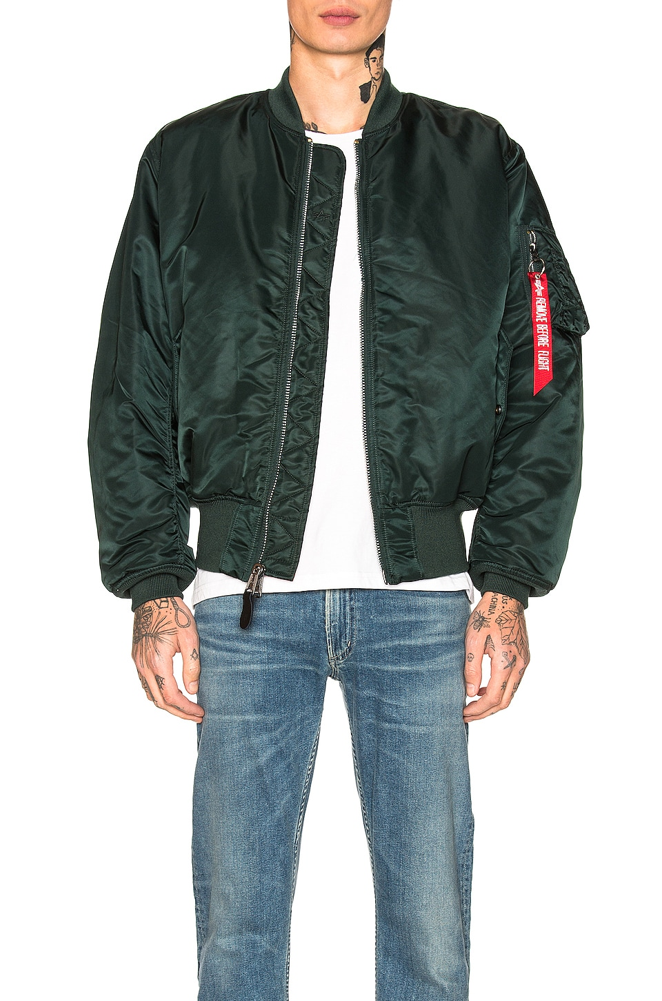 ALPHA INDUSTRIES CHAQUETA MA-1 BLOOD CHIT