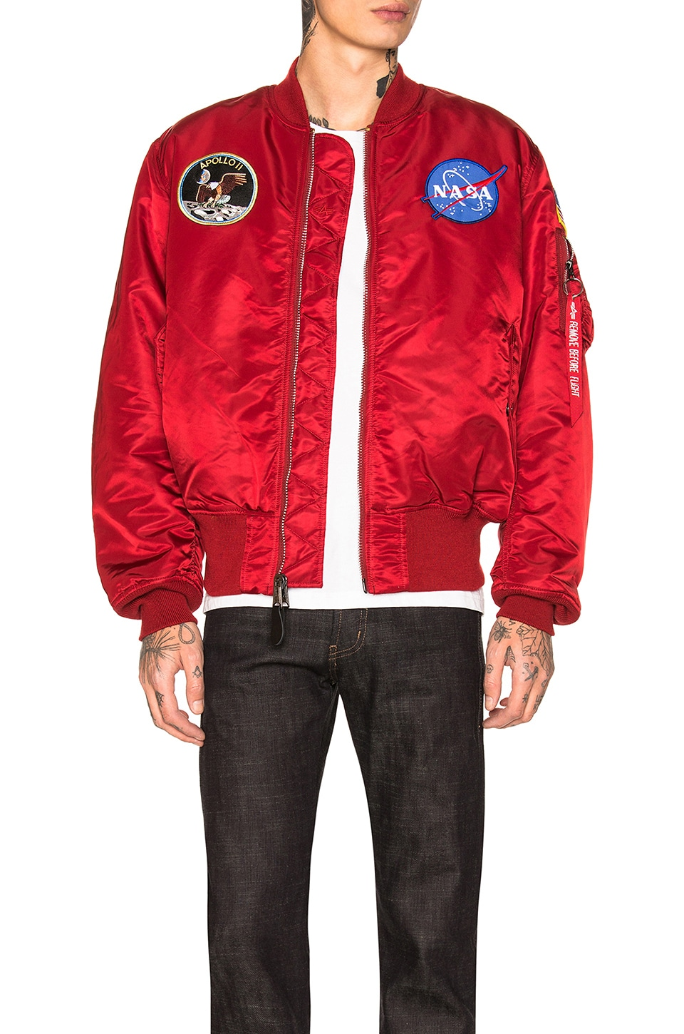 ALPHA INDUSTRIES MA-1 Apollo Jacket in Commander Red