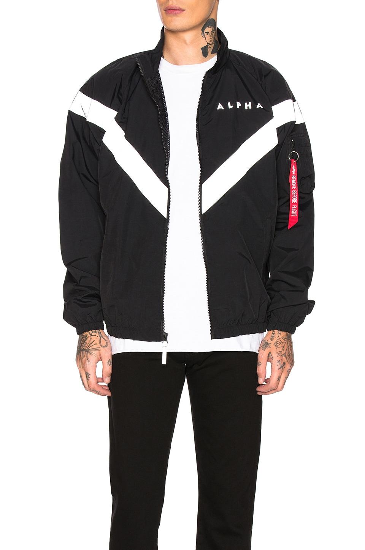 ALPHA INDUSTRIES PT Track Jacket in Black | REVOLVE