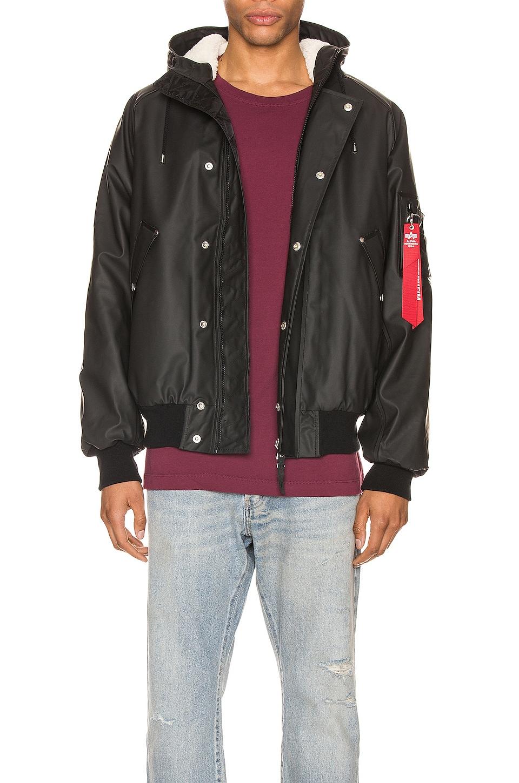 ALPHA INDUSTRIES x Stutterheim N2-B Jacket in Black