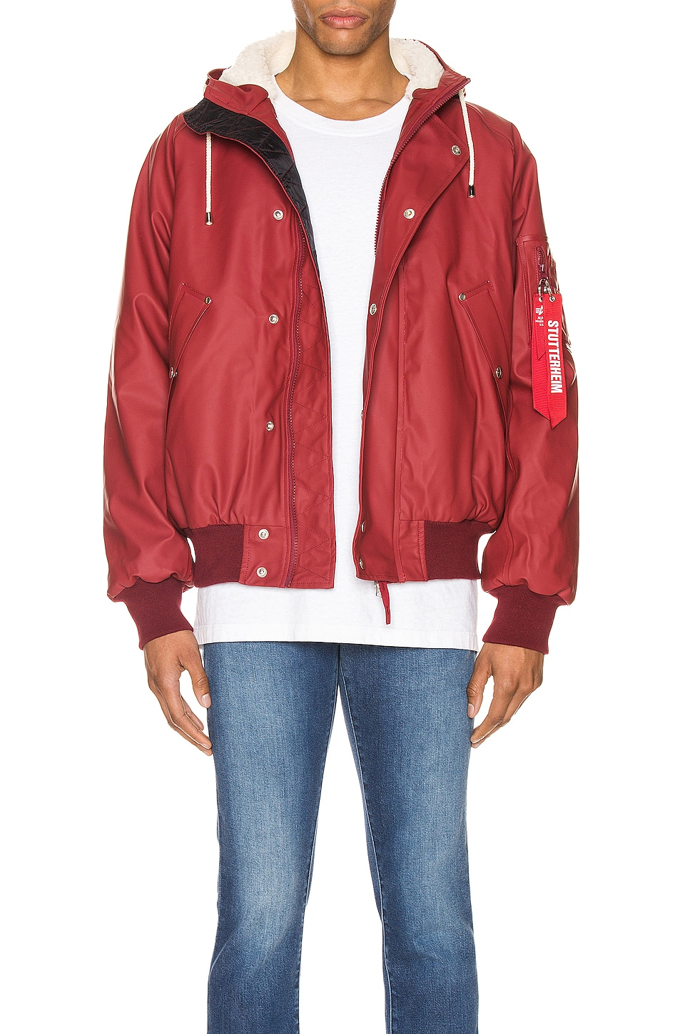 ALPHA INDUSTRIES x Stutterheim N2-B Jacket in Commander Red
