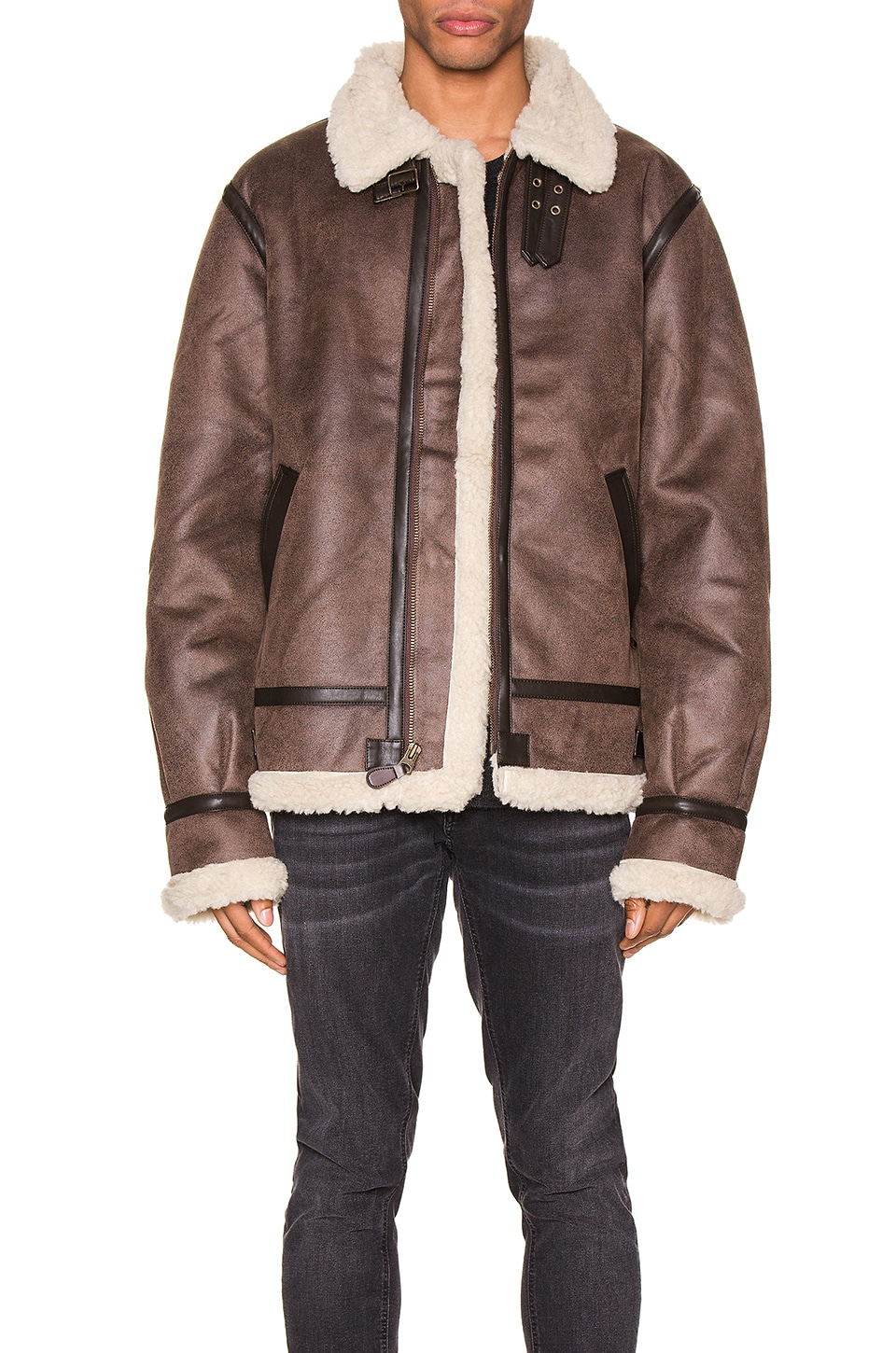 ALPHA INDUSTRIES B-3 Sherpa Mod en Deep Brown