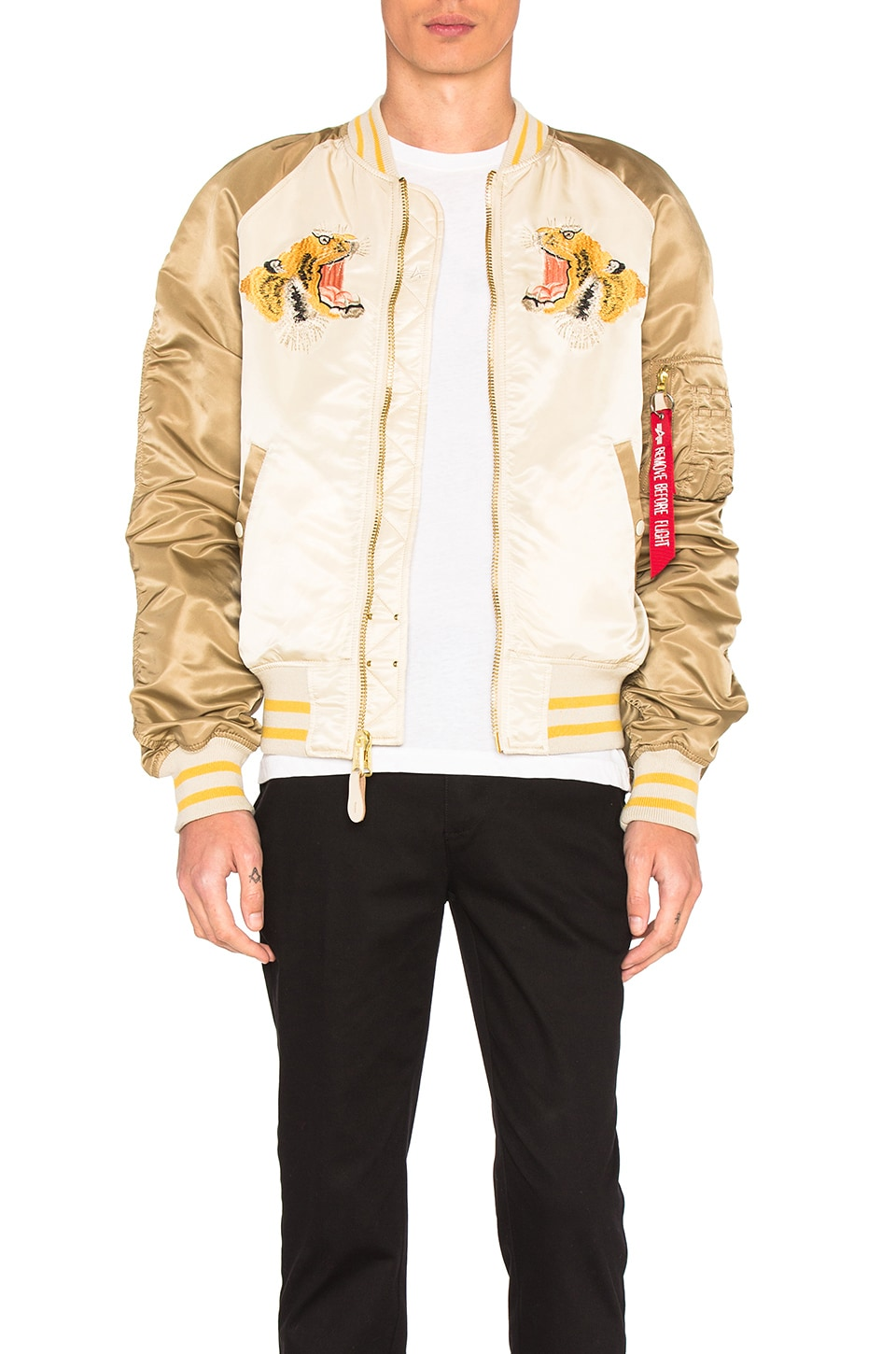 Tiger Souvenir Jacket by ALPHA INDUSTRIES