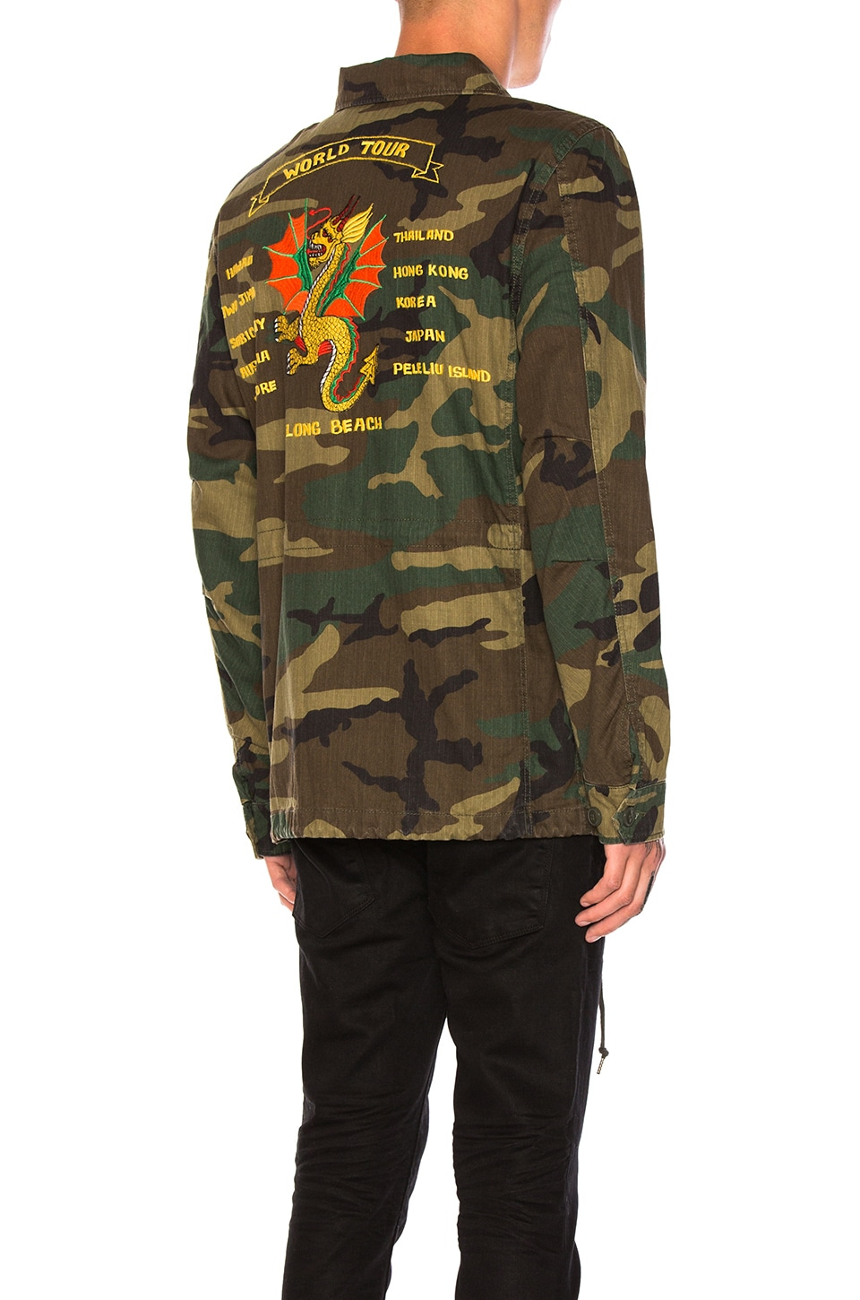 38f3dc0f17185c ALPHA INDUSTRIES Dragon Tour Field Coat in Woodland Camo | REVOLVE