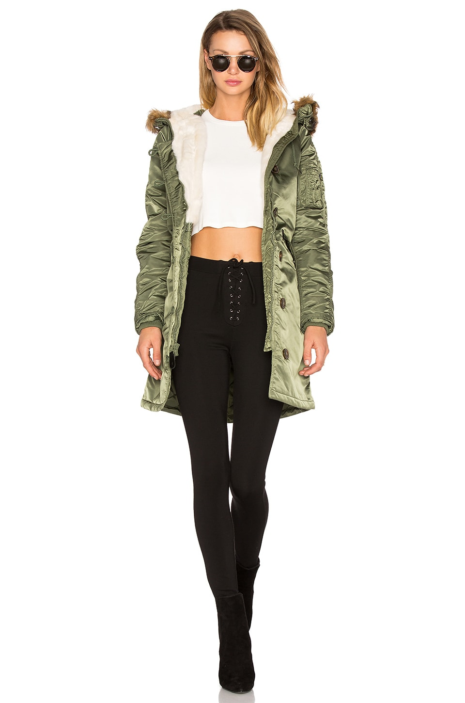 Elyse Faux Fur Parka by ALPHA INDUSTRIES