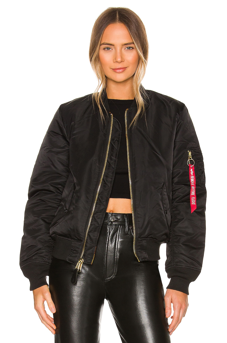 ALPHA INDUSTRIES MA-1 W Bomber in Black