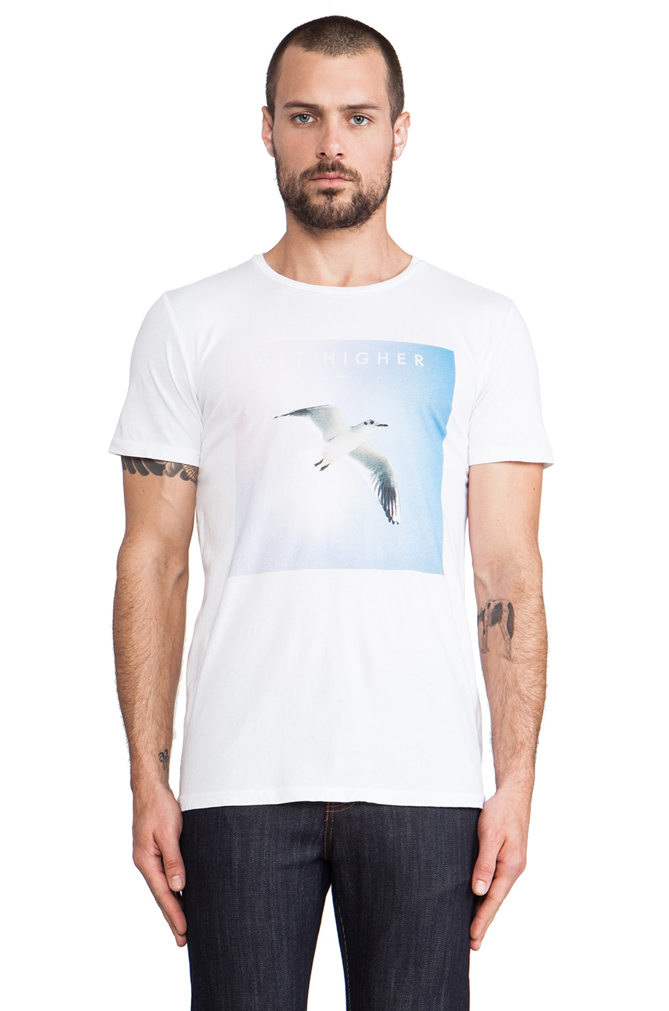 Altru Get Higher Tee in White