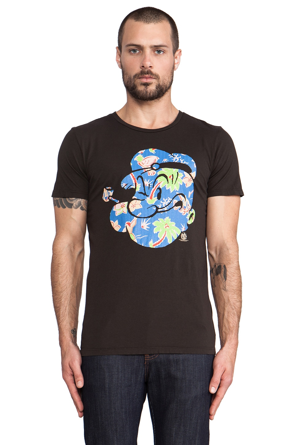 Altru Popeye Hawaii Tee in Graphite