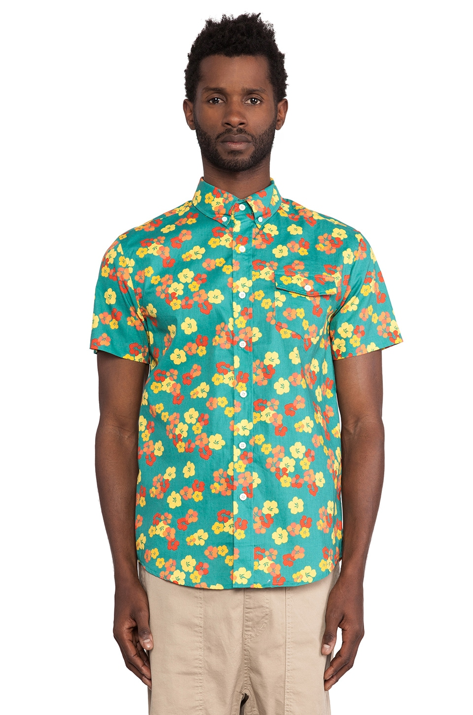Altru Floral Button Up