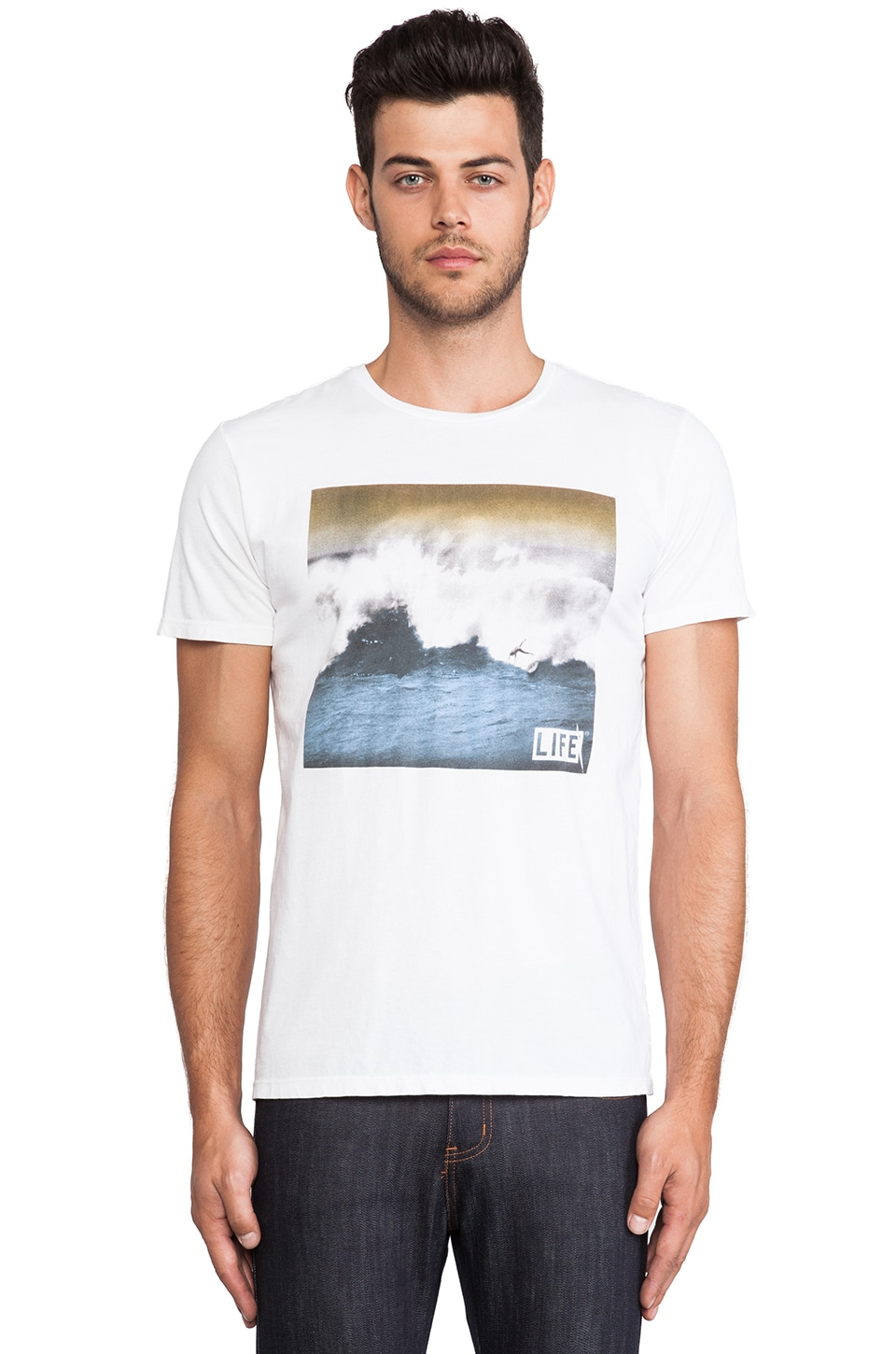 Altru LIFE Wipeout Tee in White