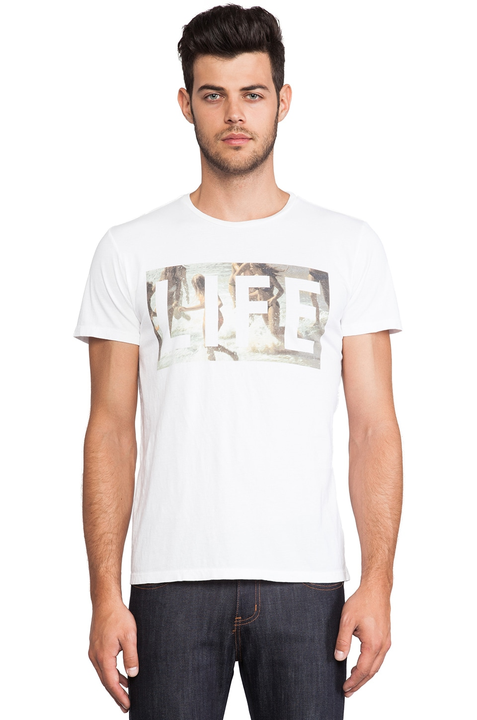 Altru LIFE Beach Girls Tee in White