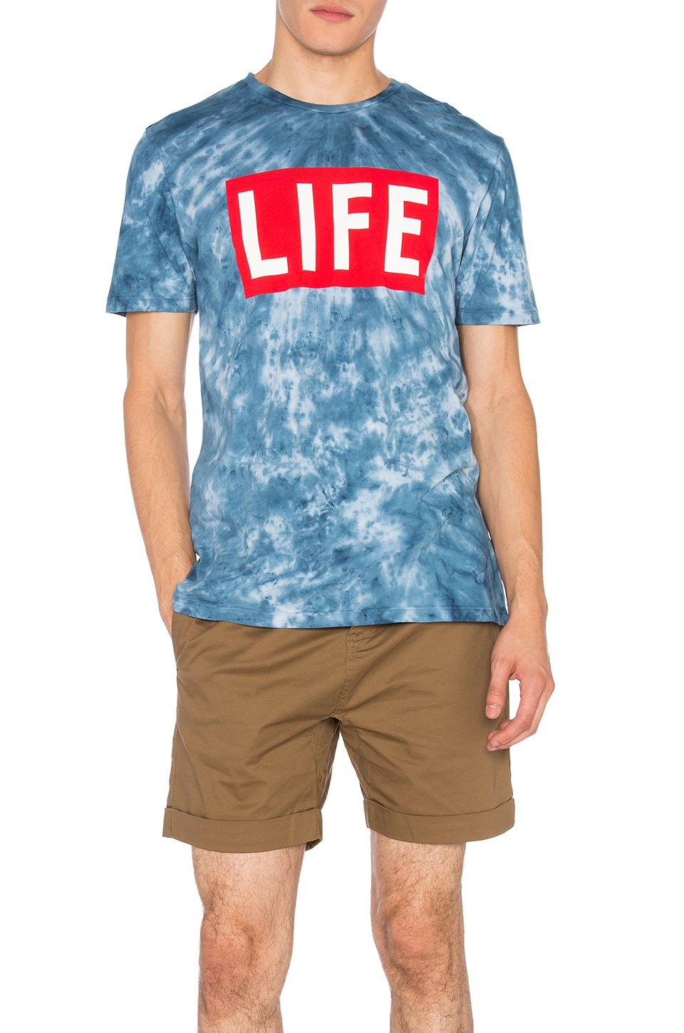 Altru Life Logo Tee in Blue Cloud Wash