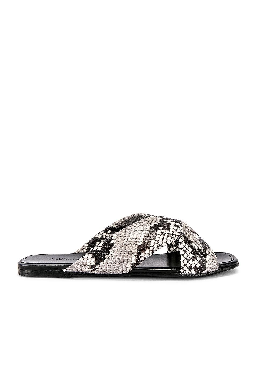 ALUMNAE Turban Slide Sandal in Natural Python