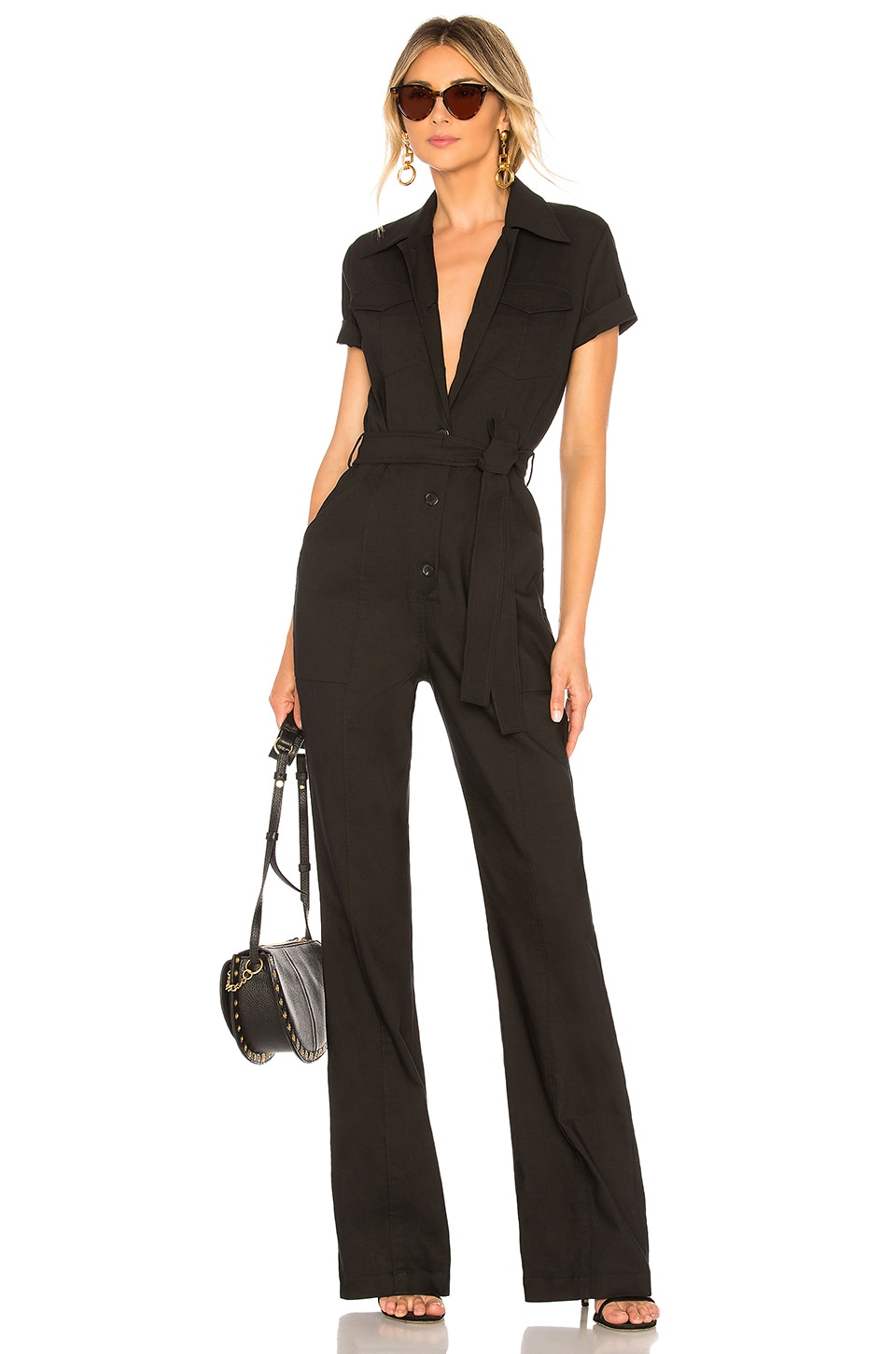 A.L.C. Rivington Jumpsuit in Black