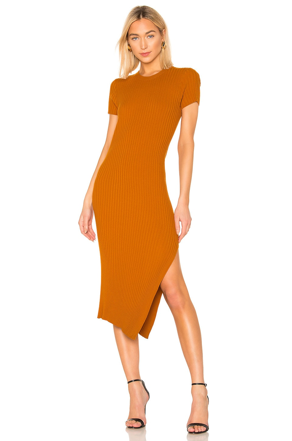 A.l.c Dresses A.L.C. MINETTA DRESS IN BURNT ORANGE.