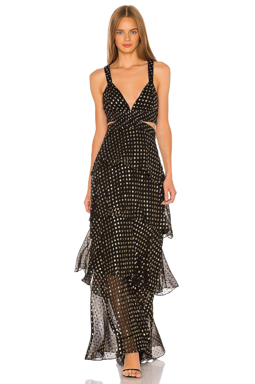 A.L.C. Lita Dress in Black & Gold