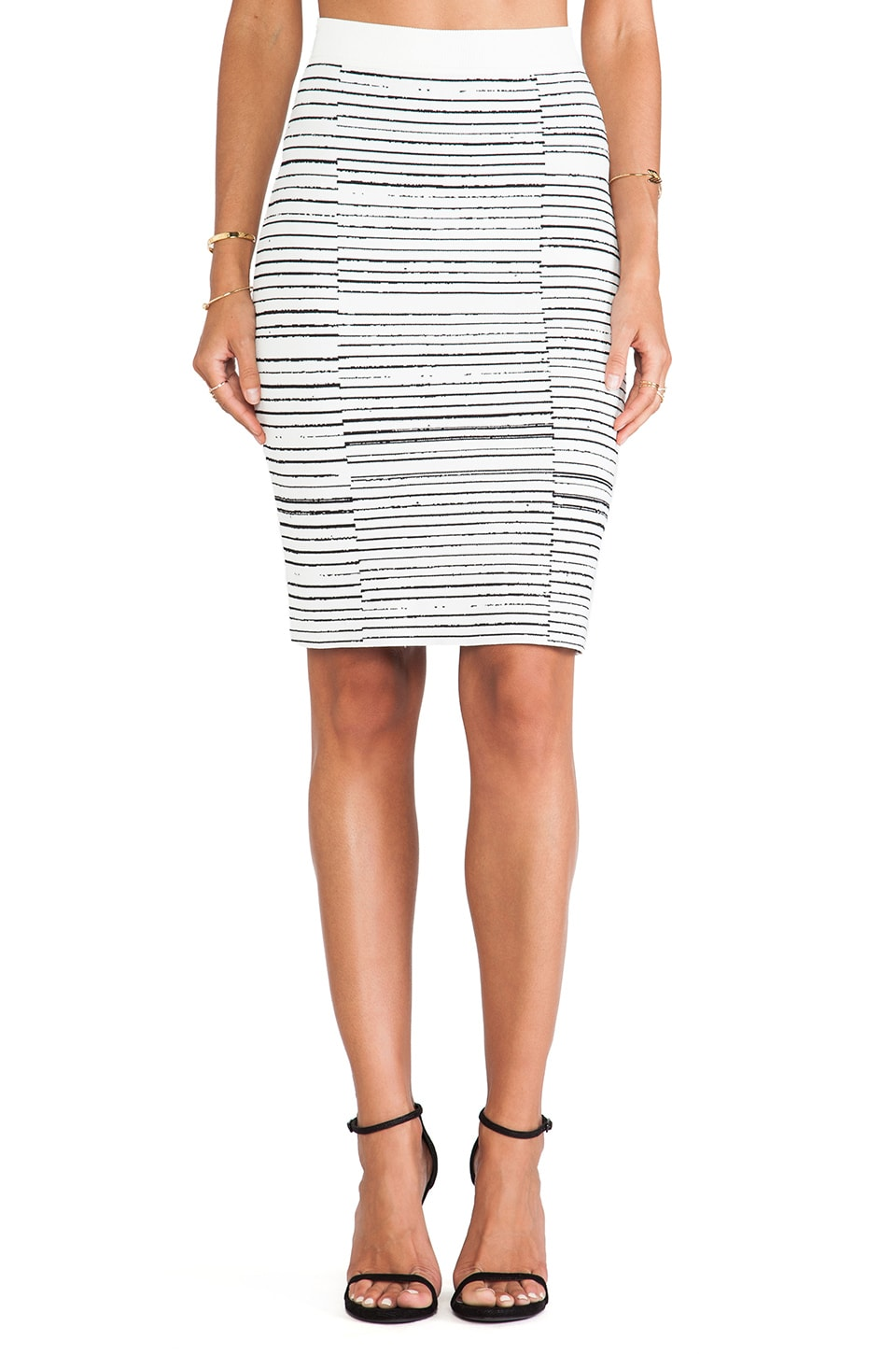 A.L.C. Lyons Skirt in White/Black
