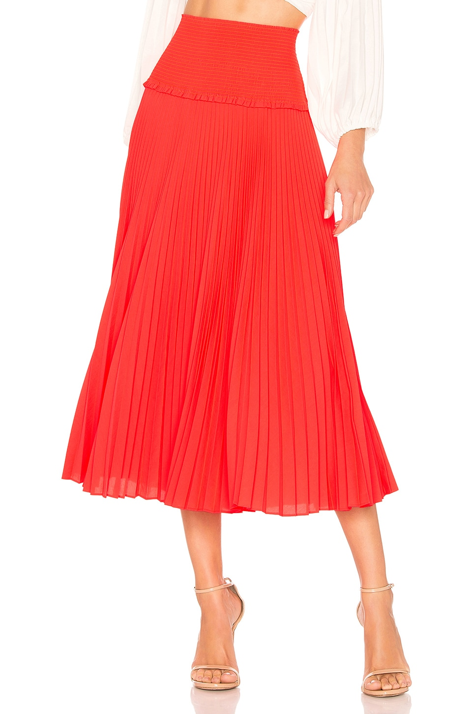A.L.C. Hedrin Skirt in Neon Orange