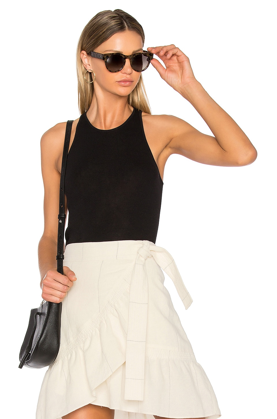 A.L.C. Nello Top en Black