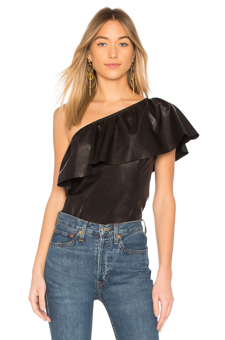 Davos Leather Top by A.L.C.