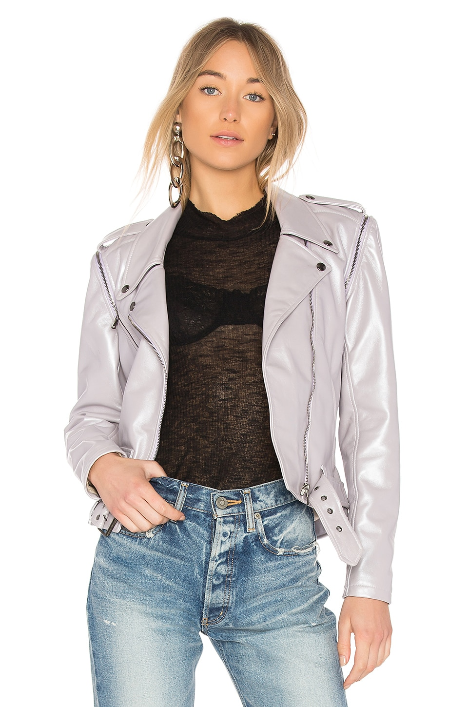 Classic Moto Jacket With Zip Sleeve by ALYSON EASTMAN