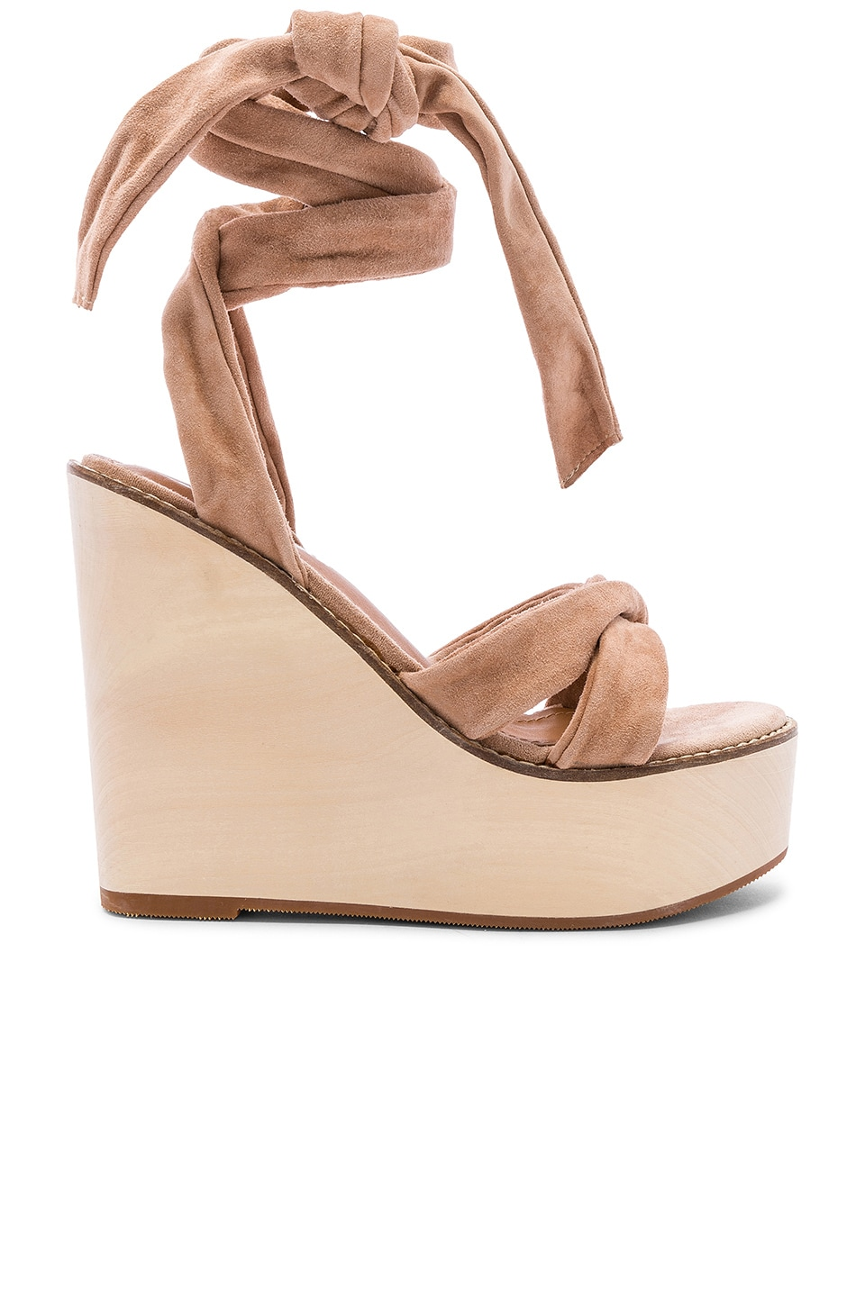 Alias Mae Kendra Wedge in Blush Suede