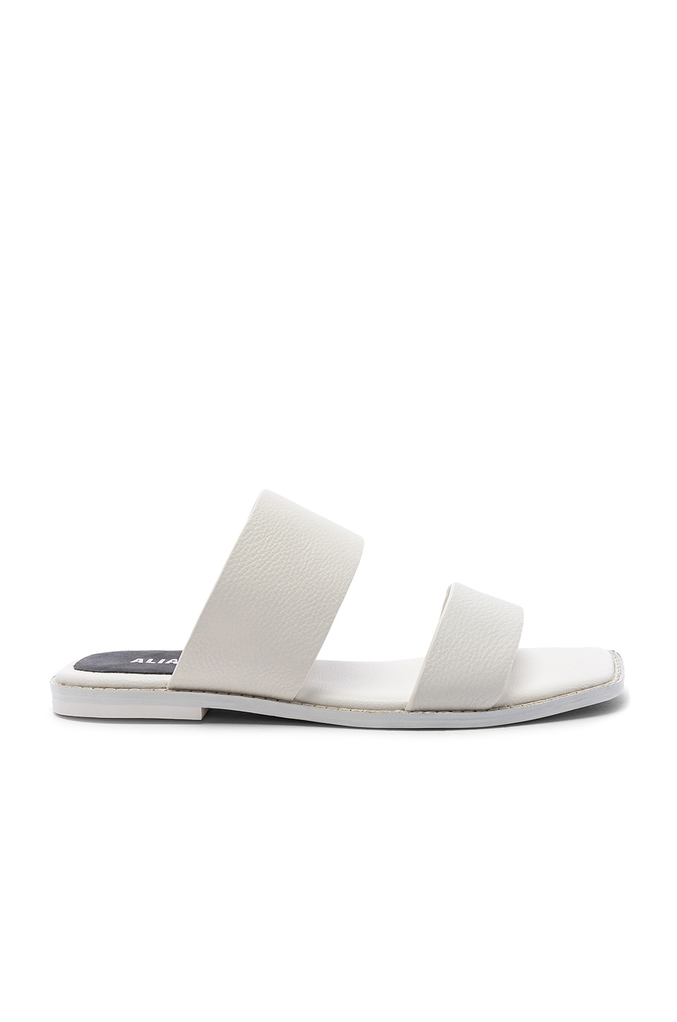 Alias Mae Tula Slide in White Leather