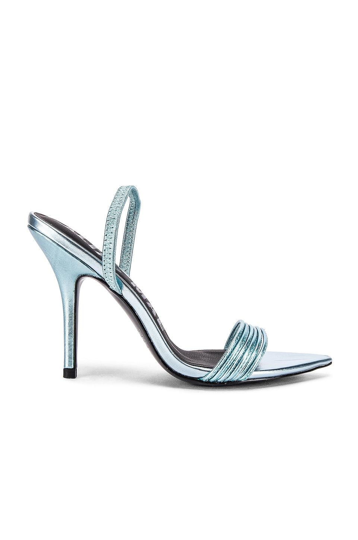 Alias Mae Xanthe Heel in Metallic Blue Leather
