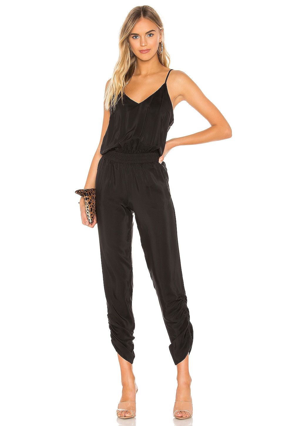 Amanda Uprichard Lowell Jumpsuit in Black