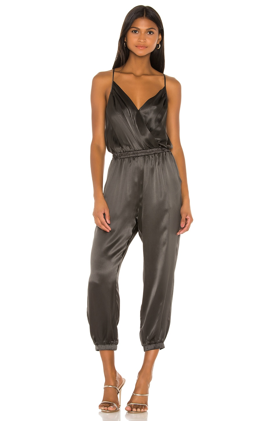 Amanda Uprichard Leah Jumpsuit in Shale