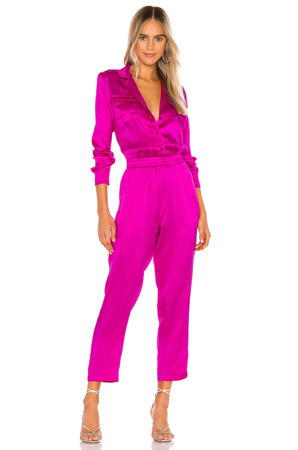 Amanda Uprichard X REVOLVE Felix Jumpsuit in Dark Hot Pink