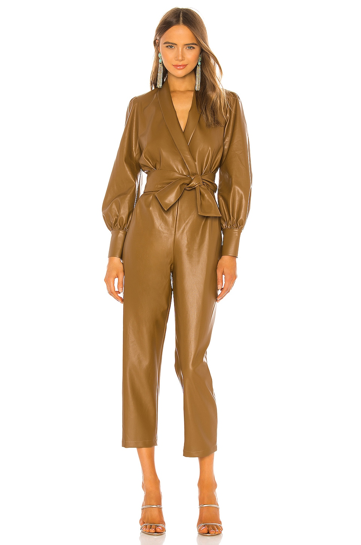Amanda Uprichard X REVOLVE Studio Jumpsuit en Tan Leather