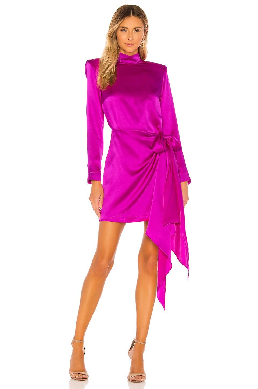 Amanda Uprichard x REVOLVE Yasmine Knot Dress in Dark Hot Pink