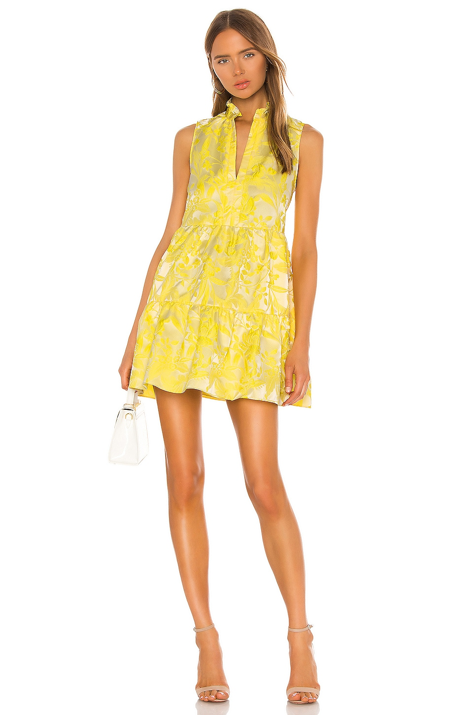 Sleeveless Saffron Dress, view 4, click to view large image.