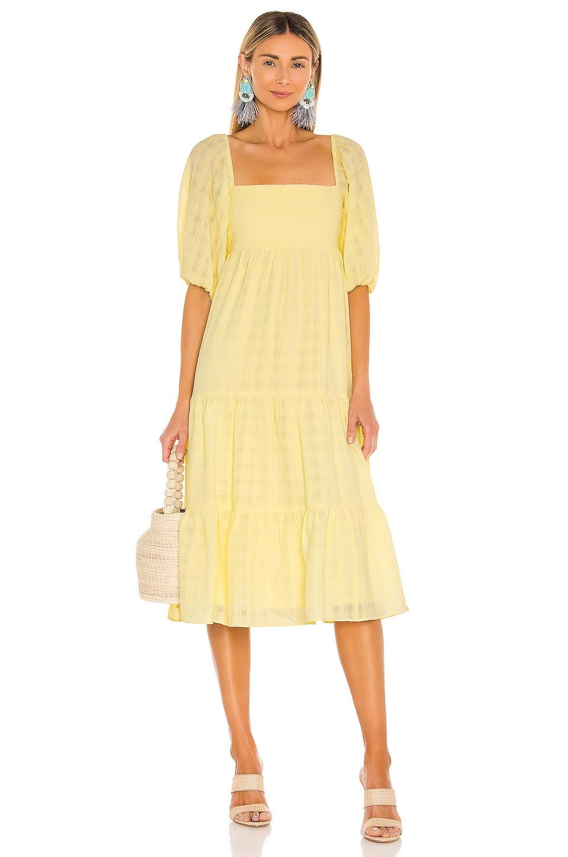 Amanda Uprichard Maisie Midi Dress in Yellow
