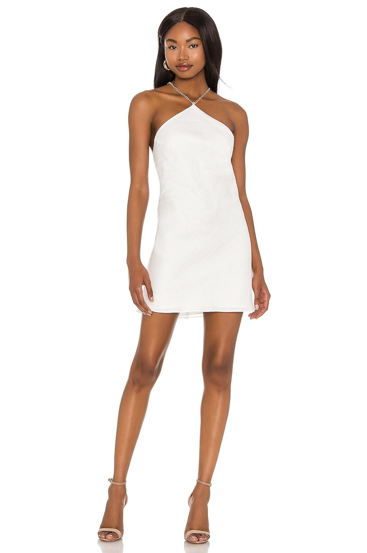 Amanda Uprichard X REVOLVE Claudia X Back Chain Dress in White