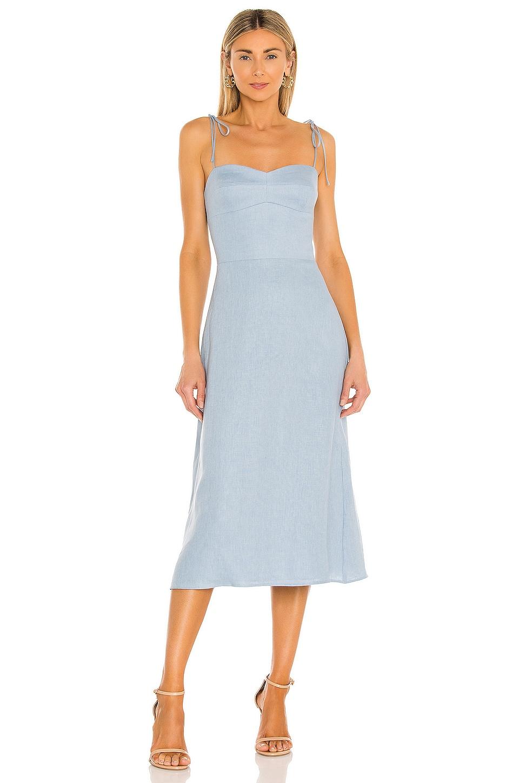 Amanda Uprichard X REVOLVE Cava Midi Dress in Sky Blue