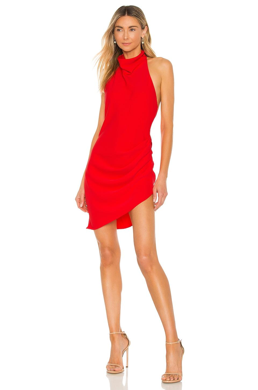 Amanda Uprichard Samba Dress in Crimson