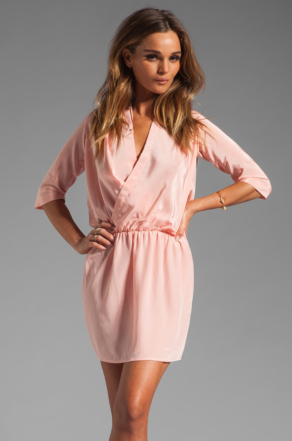 Amanda Uprichard Vail Dress in Blush