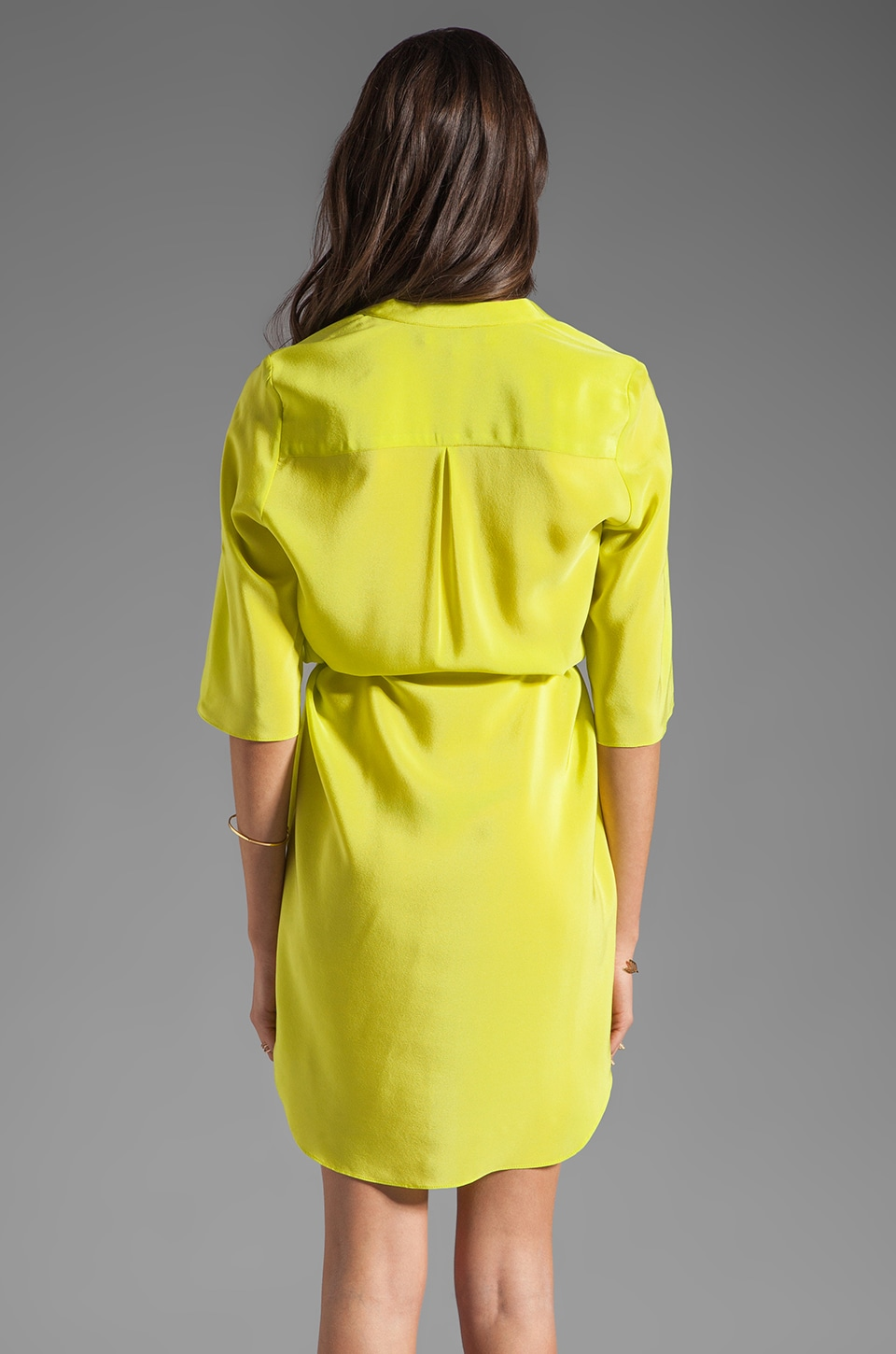 Amanda Uprichard Staci Dress in Lime