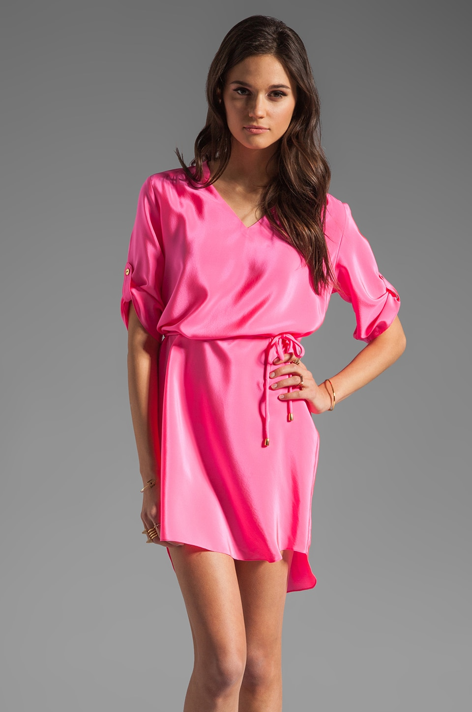 Amanda Uprichard Staci Dress in Hibiscus