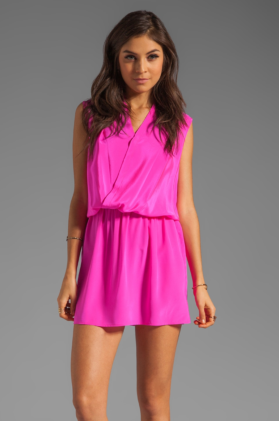 Amanda Uprichard Mini Dress in Hot Pink