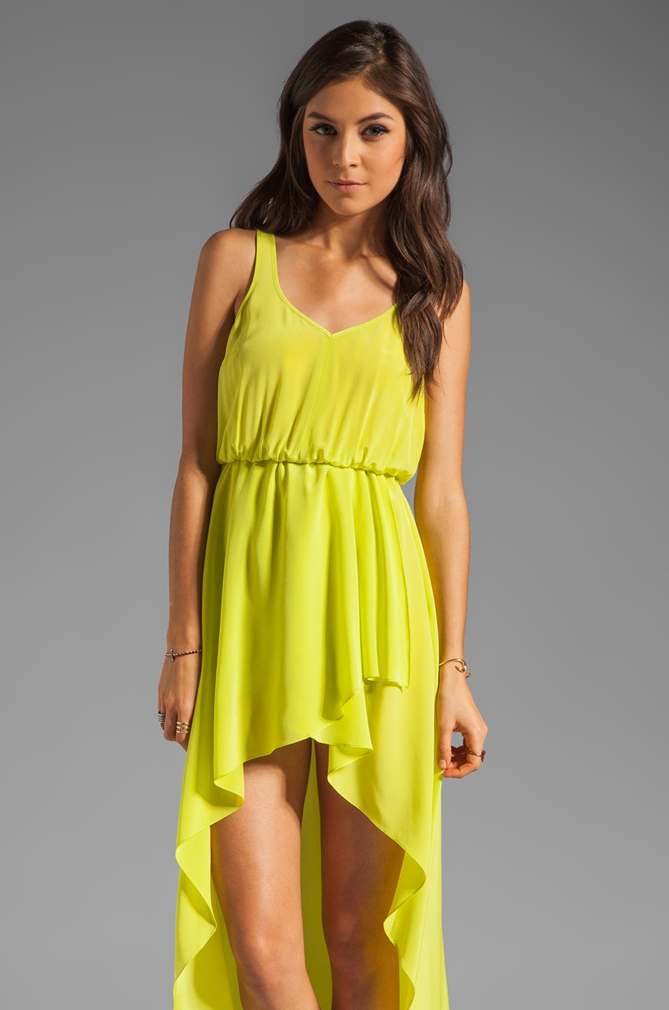 Amanda Uprichard Hi-Lo Maxi Dress in Lime