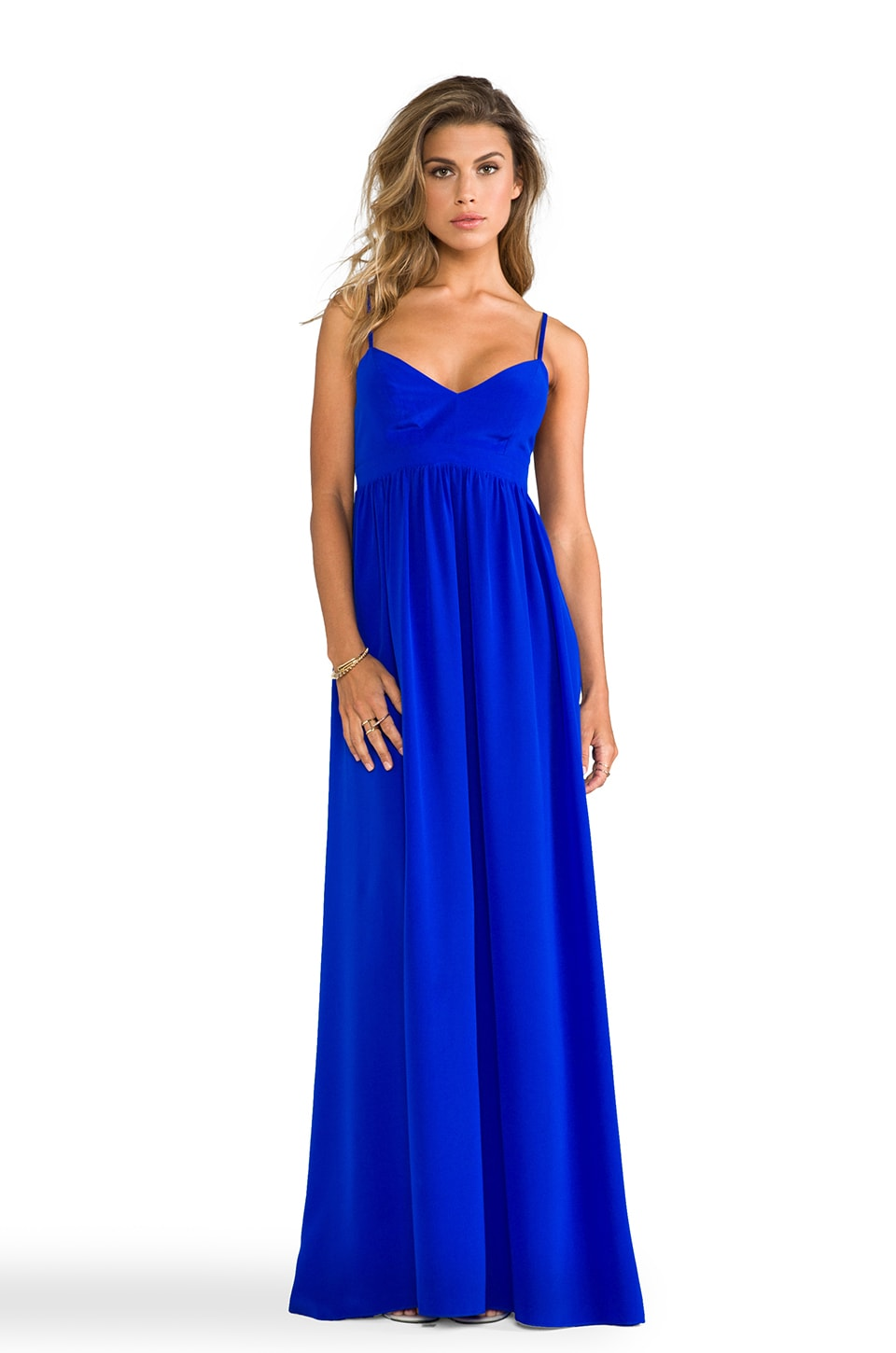 Amanda Uprichard Silk Gown in Royal